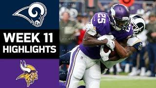 Rams vs. Vikings | NFL Week 11 Game Highlights