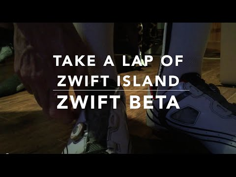 Taking a lap of Zwift Island