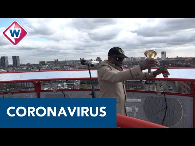 Edgar Burgos van Trafassi geeft een torenconcert in Den Haag - OMROEP WEST