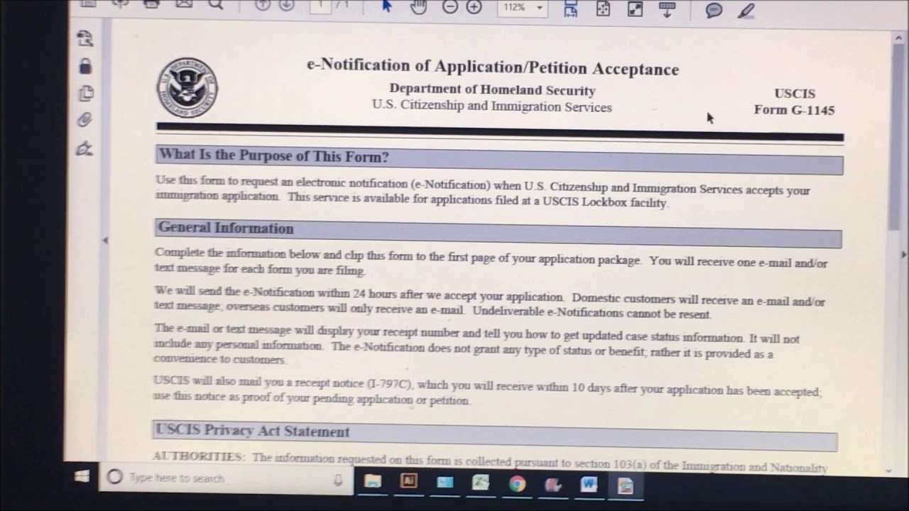 How to fill out form G-1145 and what is the use or purpose ...