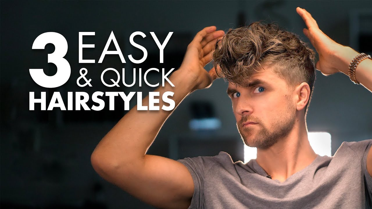 Download 3 Quick and Easy Hairstyles For Men   Men's Hair Tutorial