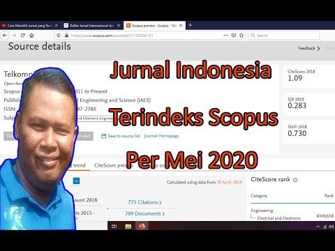Jurnal Indonesia Terindeks Scopus Per Mei 2020