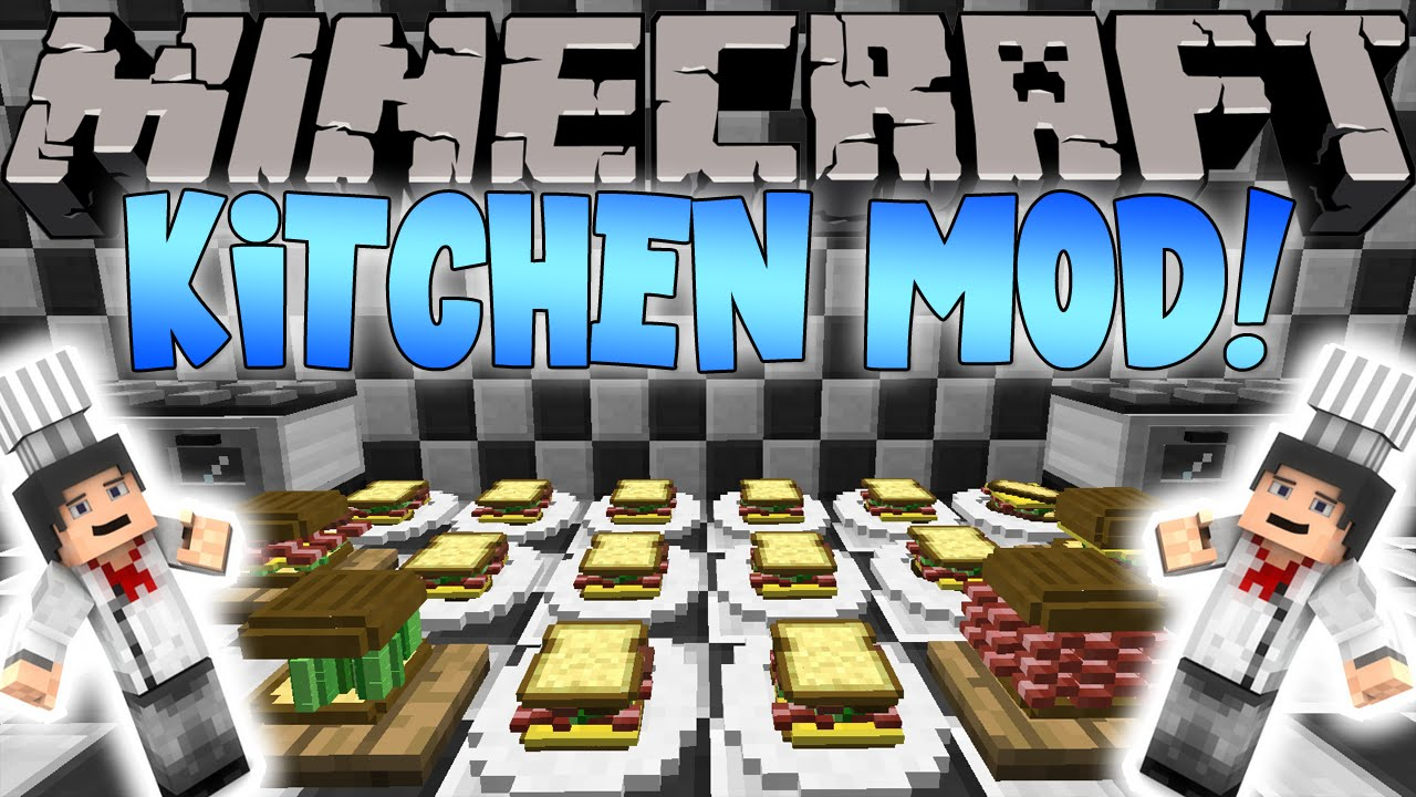 Minecraft Mods: KITCHEN MOD! MAKE A CUSTOM SANDWICH! - YouTube