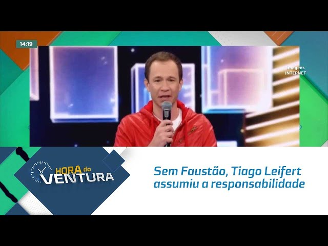 Sem Faustão, Tiago Leifert assumiu a responsabilidade de apresentar o 'Domingão'