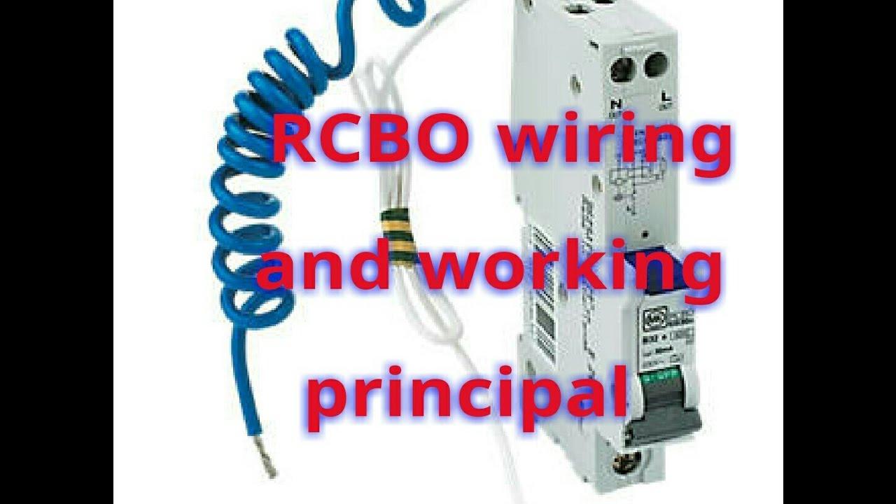 rcbo wiringrcbo working rcbo wiring diagramrcbo
