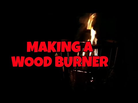 MAKING A WOOD BURNER FROM A FIRE EXTINGUISHER PART 1