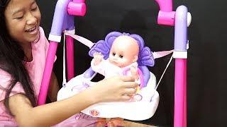 Senangnya Boneka Bayi Bayian ini di ayun 💖 Baby Doll Mainan Anak Let's Play