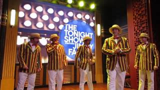 80's Medley Classroom instruments Ragtime Gals Race through New York starring Jimmy Fallon ride
