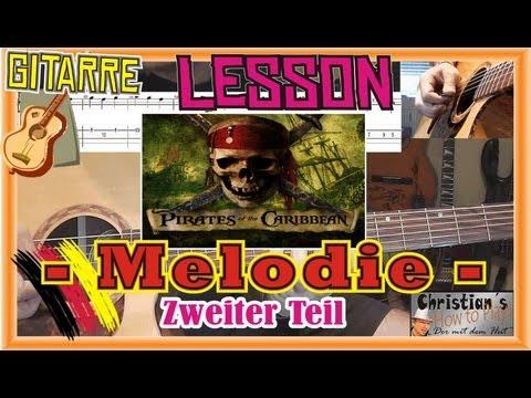 How to Play FLUCH DER KARIBIK Tabs Akkorde Akustik Gitarre lernen Tutorial [HD] 2/2