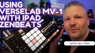 Using @RolandChannel #VerseLab MV-1 on iPad #Zenbeats