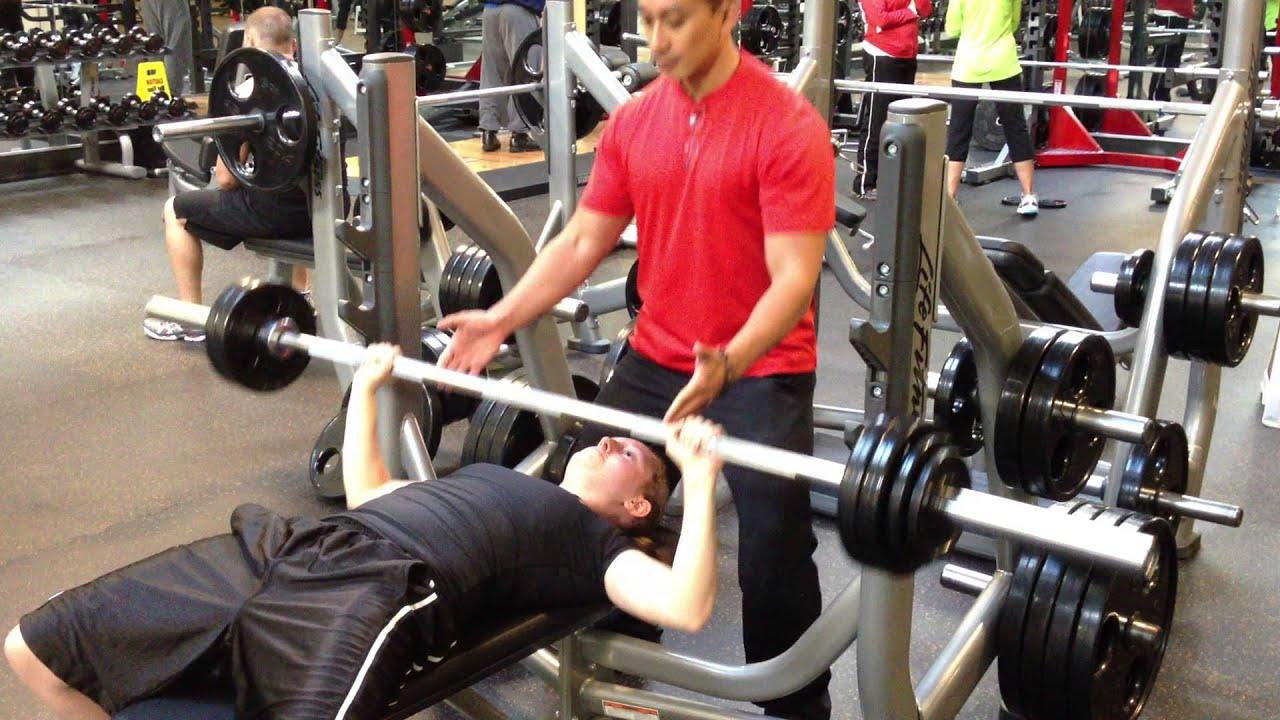 100 pound bench press