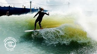 WSL World Longboard Tour Surfers at the Surf Ranch