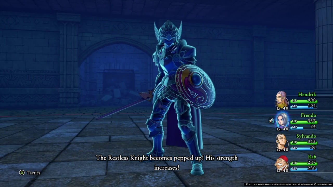 Dragon Quest Xi Super Strong Enemies Restless Knight Lv 40 Youtube There is nothing inside the armour, though the darkness inside their helmets makes this a questionable matter at times. youtube