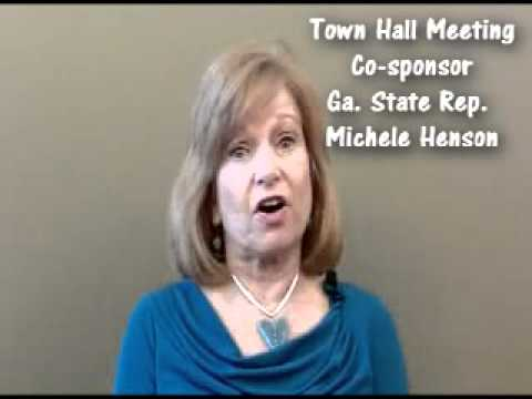 Ga State Rep. Michele Henson at Town Hall Meeting