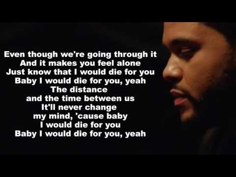The Weeknd - Die For You (Lyrics On Screen)