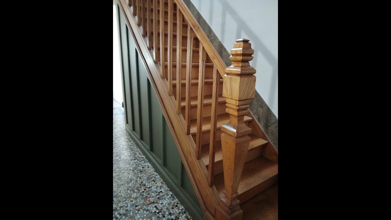 Decaper Et Repeindre Sa Cage D Escalier Youtube