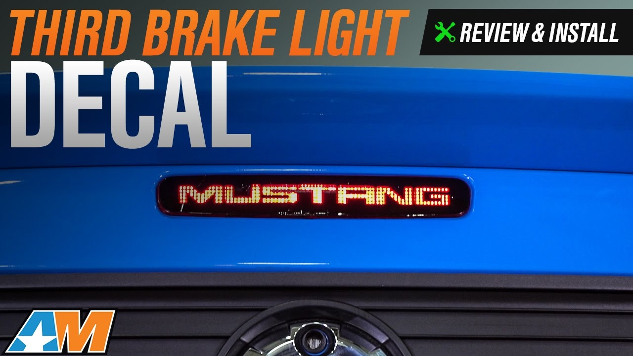 2005-2009 Mustang Third Brake Light Decal Review & Install