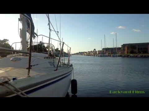 Gulf Harbors Dockside New Port Richey Florida - Evening Time Lapse