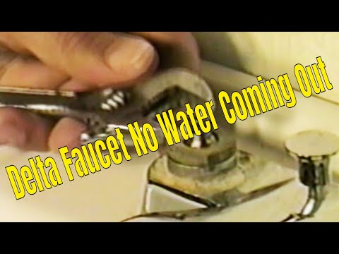 Delta Faucet No Water Coming Out