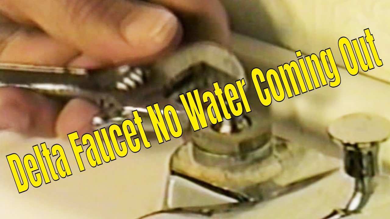 Bathroom Faucet No Water Coming Out delta faucet no water coming out.👍👍👍 - youtube