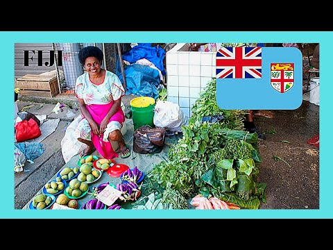 FIJI, the fascinating FRUIT, PRODUCE, VEGETABLE & CLAM(!) MARKET in SUVA