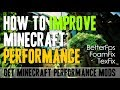 How to improve Minecraft Performance - download and install Minecraft performance mods (1.12.2)
