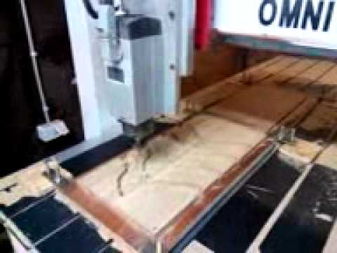 Omni 0615 cnc router do solid wood mold 2