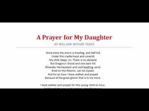 a prayer for my daughter yeats analysis