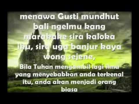 Wejangan Bahasa Jawa berikut Artinya ( fb. nickolas s.s )