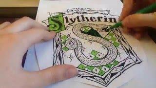 Hogwarts Slytherin logo Time-lapse
