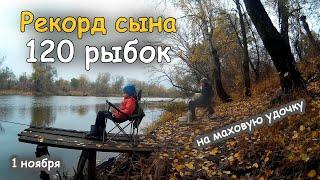 Рекордная рыбалка сына на Северском Донце
