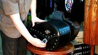 боковые мото кофры самара мото сумки.AVI(мото кофры собственного изготовления натуральная кожа, нержавеющая фурнитура, стенка прилегающая к моту..., 2011-08-20T11:48:03.000Z)