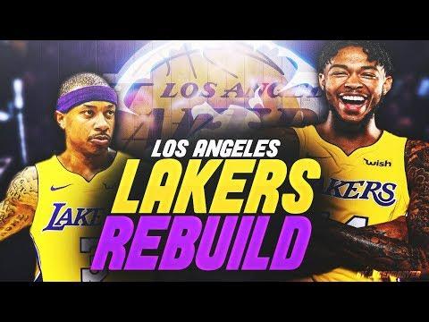Rebuilding the NEW LOOK LA LAKERS!! TRADING ISAIAH THOMAS AGAIN?!! - NBA 2K18 MYLEAGUE