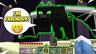 FINDING THE *FRIENDLY* ENDERDRAGON IN MINECRAFT!