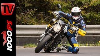 Suzuki SV650 Test 2016 | Motorrad Quartett | Action, Onboard, Details(Das 1000PS Motorrad Quartett: 4 Fahrer, 10 Motorräder. K.OT, NastyNils, Vauli und Zonko fahren die Bikes der Roadshow on Tour 2016. Kapitelübersicht: 0:00 ..., 2016-06-06T08:44:12.000Z)