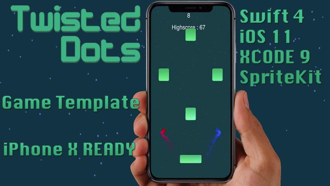 Twisted Dots Game Template for SALE (Swift 4, iOS 11+, XCODE 9 ...