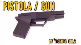 BEST COOL Origami paper gun | Cómo hacer de papel pistola origami