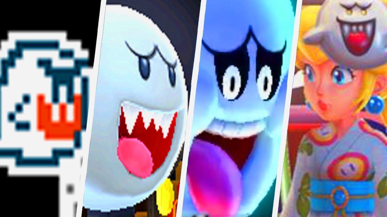 Evolution Of Boo In Super Mario Games 1988 2017 Youtube
