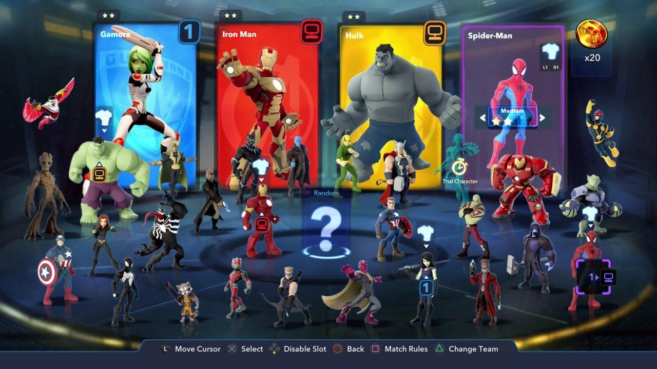 How To Change Costumes In Marvel Battlegrounds Disney Infinity 3 0