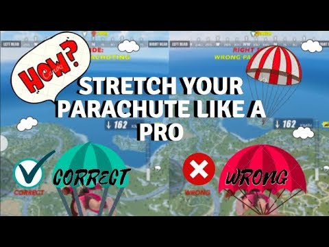 How to stretch your parachute like a PRO in Rules of Survival! (with 2 comparison videos)