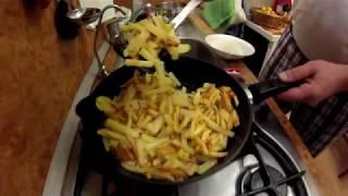 Рецепт жареной картошки. Секреты приготовления.