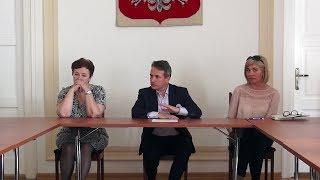 Spotkanie ostrowskiej orkiestry dętej z władzami miasta