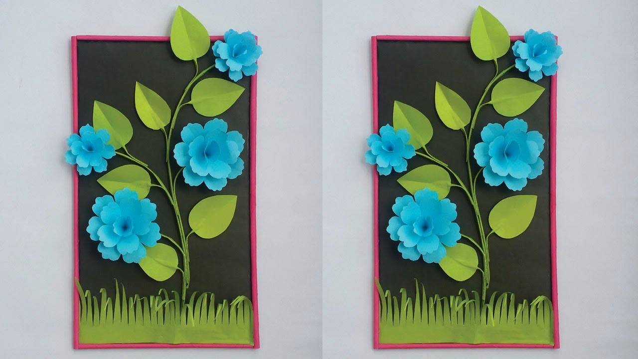 DIY: Wall Hanging Crafts Ideas! How to Make Flower Hanging/Wall Hanging with Paper! Easy Home Decor!
