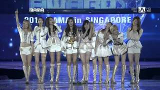 소녀시대 Artist Of The Year @ Mnet Asian Music Awards 2011