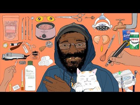 [asmr/stop-motion]-homeless-man-vol.3-transformation/make-up-animation