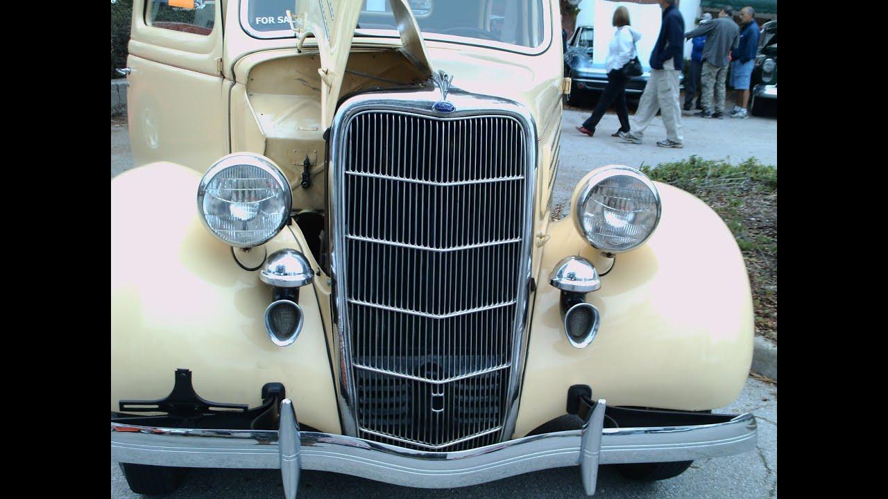 1935 ford two door sedan cream youtube for 1935 ford 2 door sedan