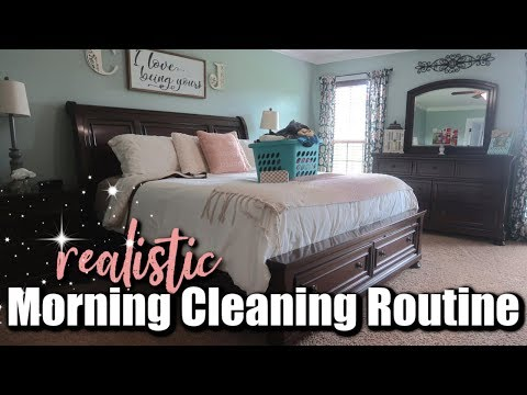🌞SUPER REALISTIC MORNING CLEANING ROUTINE- RELAXING SAHM Clean With Me  Cleaning Motivation 2018