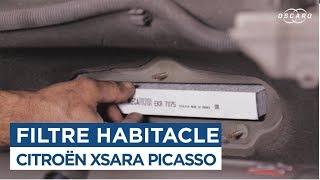 Comment changer le Filtre Habitacle - Xsara Picasso