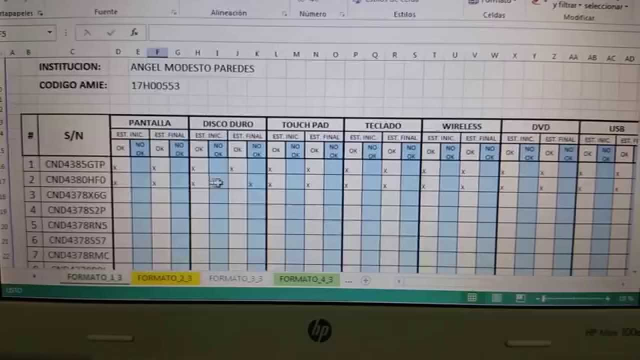 check list excel