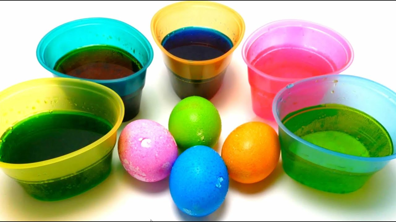 DIY EASTER EGG COLORING - PAAS Color Cups Kit - YouTube